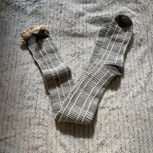 Free People Knee High Lounge Lace Socks